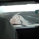 strada inondata